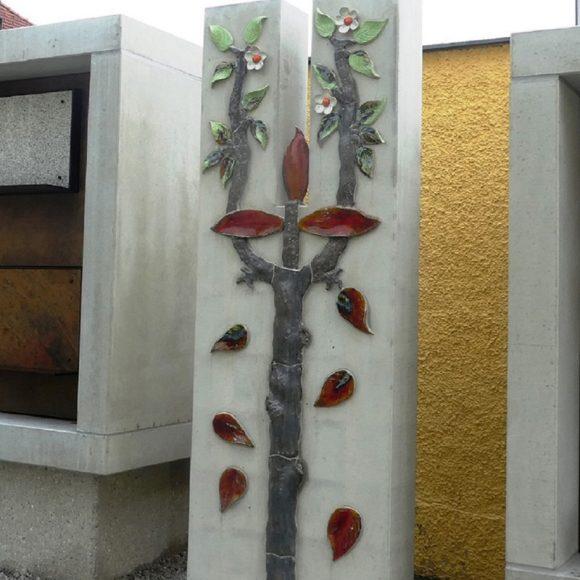 Urnenwandgestaltung Pfarrkirche Elixhausen